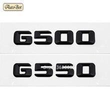For Mercedes Benz G Series G500 G550 W460 W461 W463 W204 W203 W211 W210 W212 W205 Cla Trunk Lid Rear Emblem Badge Letter Decal seicane car optical fiber decoder most box bose for 2001 2008 mercedes benz g class w463 g550 g500 harmon kardon audio converter