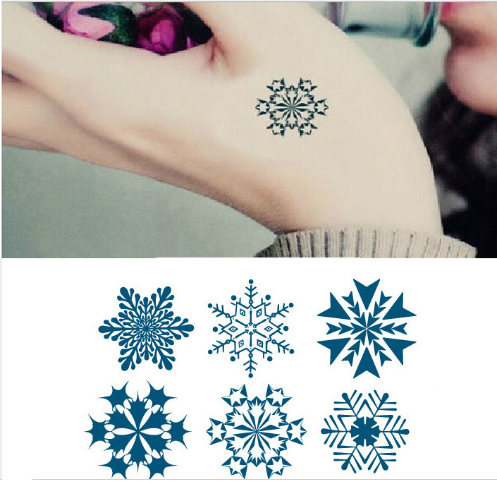 Free Shipping Snowflake-shaped Waterproof Tattoo Sticker Temporary Tattoo #r123