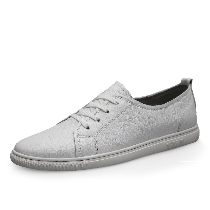 CLAX Man Shoes Leather 2019 Spring Summer Men 39 s Casual Shoe Male Walking Footwear White Shoe in Men 39 s Casual Shoes from Shoes