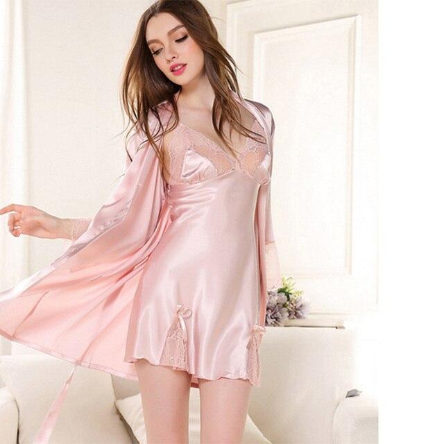 Batas para mujer pijama Otoño y invierno nuevo Sets de
