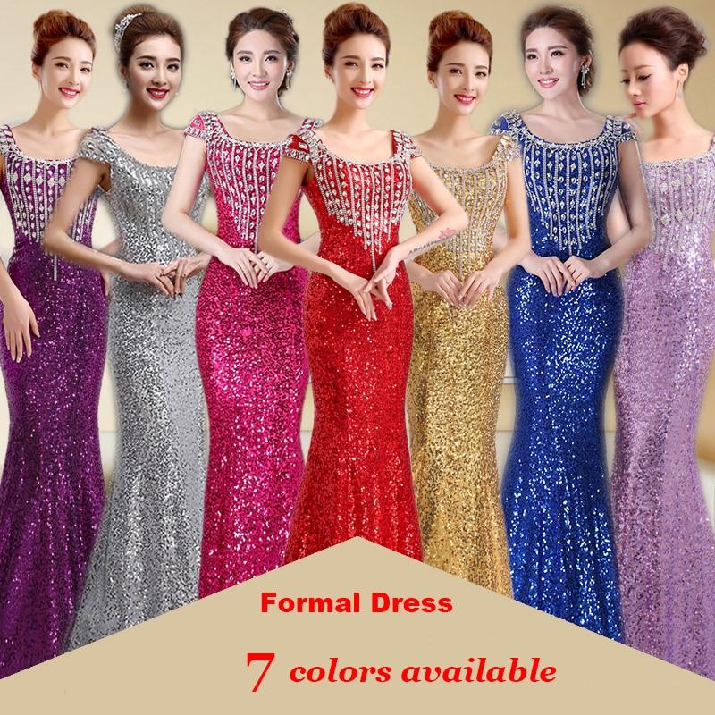 2019 Duga sirena Večernje haljine Formalne Prom haljina Sequins - Haljina za posebne prigode - Foto 3