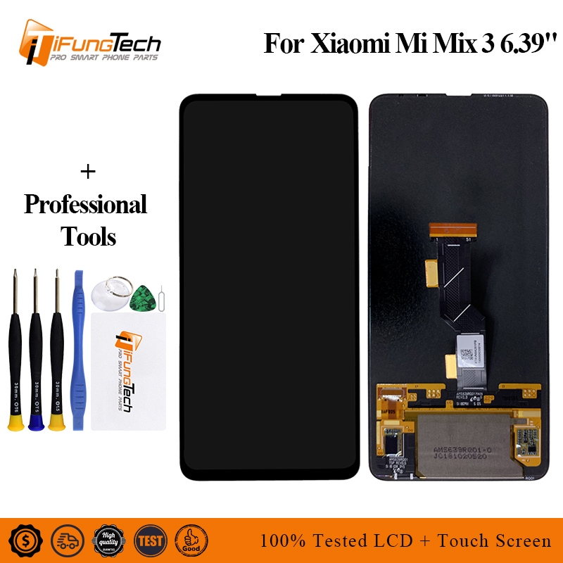 """6.39"""" Original For xiaomi mix 3 display mi mix3 Lcd screen Display+Touch panel digitizer mix3 display screen with Free Shipping"""