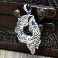 925 sterling Silver Silver carp mascota de la colgante de plata año los pescados de la joyería de plata tailandia piscis peces nadando