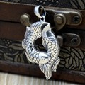 925 sterling silver silver carp mascot Silver Pendant year fish jewelry silver Thailand Pisces fish swimming