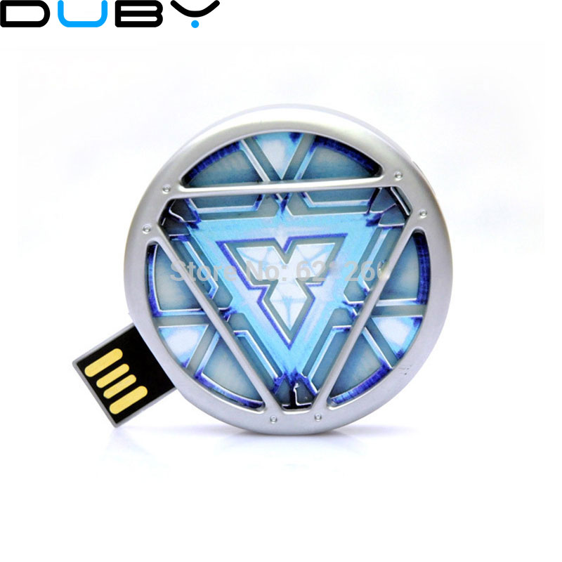 NEW Avengers Iron Man Hand LED <font><b>Flash</b></font> <font><b>Drive</b></font> 64GB <font><b>USB</b></font> 2.0 Memory Stick <font><b>Flash</b></font> Card 128GB 1TB 2TB Pendrive <font><b>512</b></font> GB Pen <font><b>Drive</b></font> Gift Key image