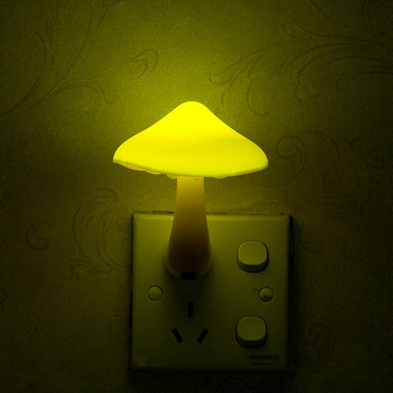 1pc Eu Plug Light Sensor Control Mini Yellow Color Mushroom Led Night In Party Favors From Home Garden On Aliexpress Alibaba Group