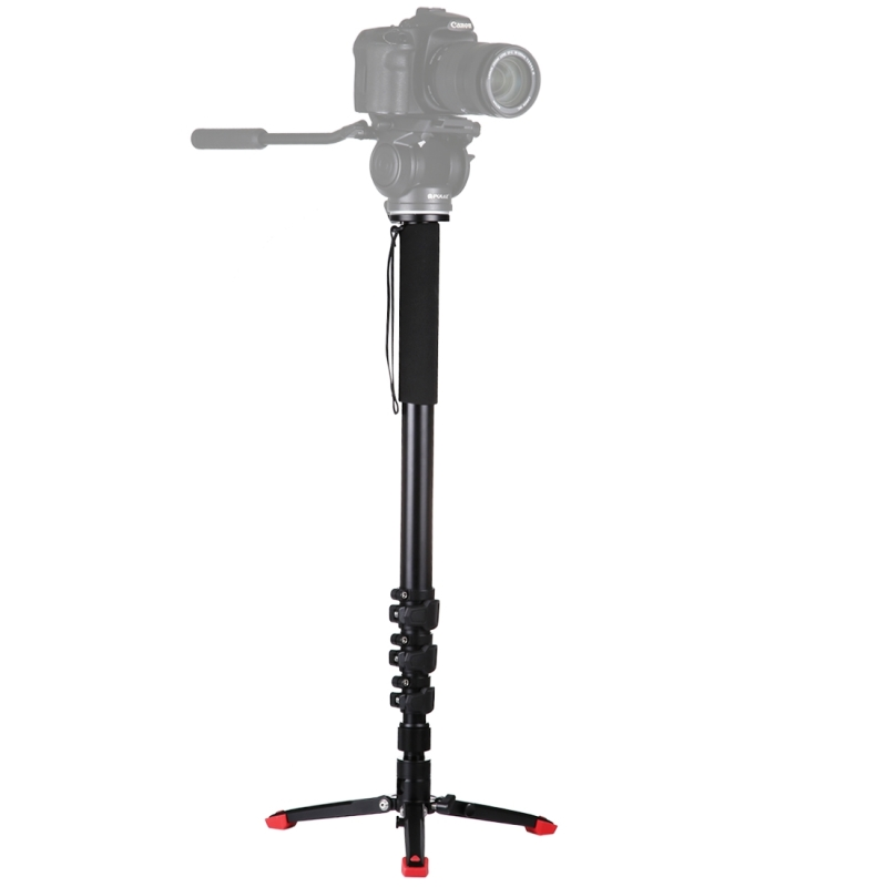 цены  PULUZ Professional Aluminium 4 Sections DSLR Camera Monopod Self-Standing Tripod for Canon Nikon Sony DSLR Support Base Bracket
