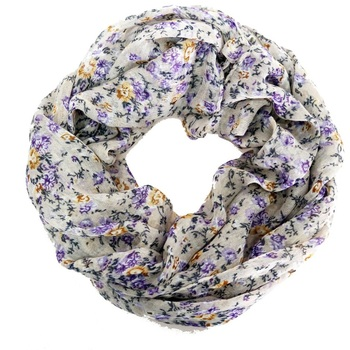 2018 Fashion Woman Scarf Bohemian Small Purple Floral Polyester Ring Warm Jacquard Women Scarves 180*60 Cm 2019 fashion women s voile infinity scarves lightweight elegant various floral print polyester ring thin sheer loop small scarf