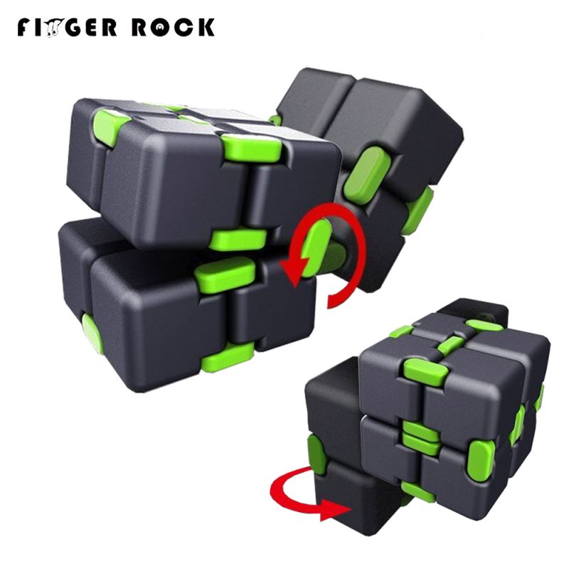 Hot Original Infinity Cube 2 Metal High Quality EDC Creative Fidget Cube Toy Anti Stress Relief Hand Spinner Adult ADHD Oyuncak new rainbow finger fidget spinner fun hand spinner desk focus toy anti stress spiner metal edc adhd autism tri spinner toy