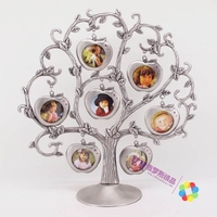 Russian Silver Tin Photo Frame 7 Leaf Photo Stickers Memory Christmas Tree European Style Of The