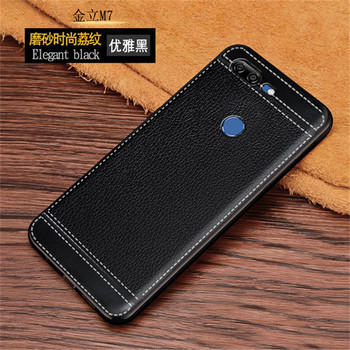 Funda de silicona para Gionee M7, cuero con patrón de lichi, TPU suave, carcasa de teléfono móvil para M7, Funda Gionee M 7 De 6,01 pulgadas, Funda para teléfonos inteligentes
