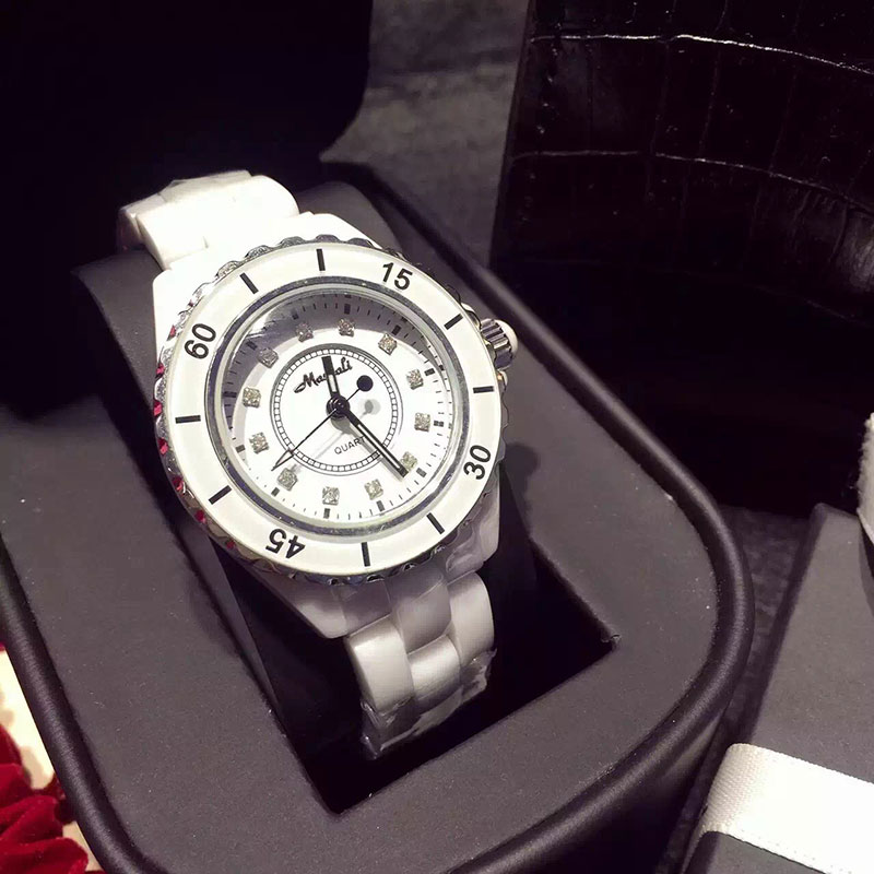 TOP Brand Luxury watches women 2016 New Fashion Quartz Watch Crystal Diamonds AAA Ceramic Watch Women