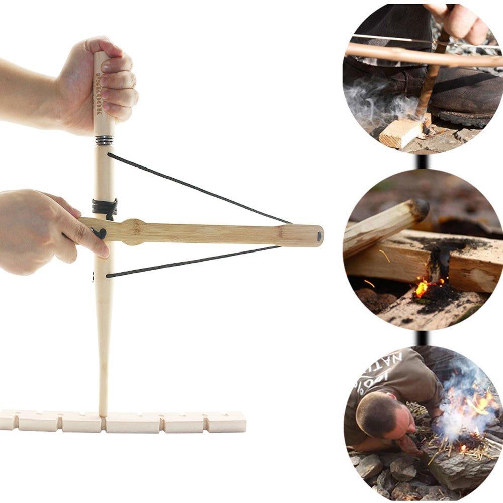 Jadeshay Outil de Fabrication de feu Kit de Survie pour perceuse /à Arc de feu