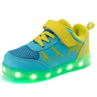 2017 New Baby Kids 7 Color LED Light Breathable Girls Boys USB Charge Luminous Shoe Children