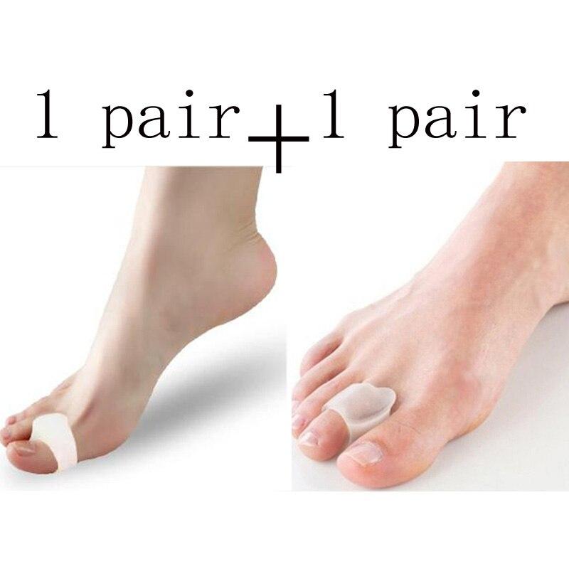 2Pair Gel Silicone Pedicure Tools Toe Separators Orthopedic Finger Protector Plantillas Para Los Pies Hallux Valgus Foot Care