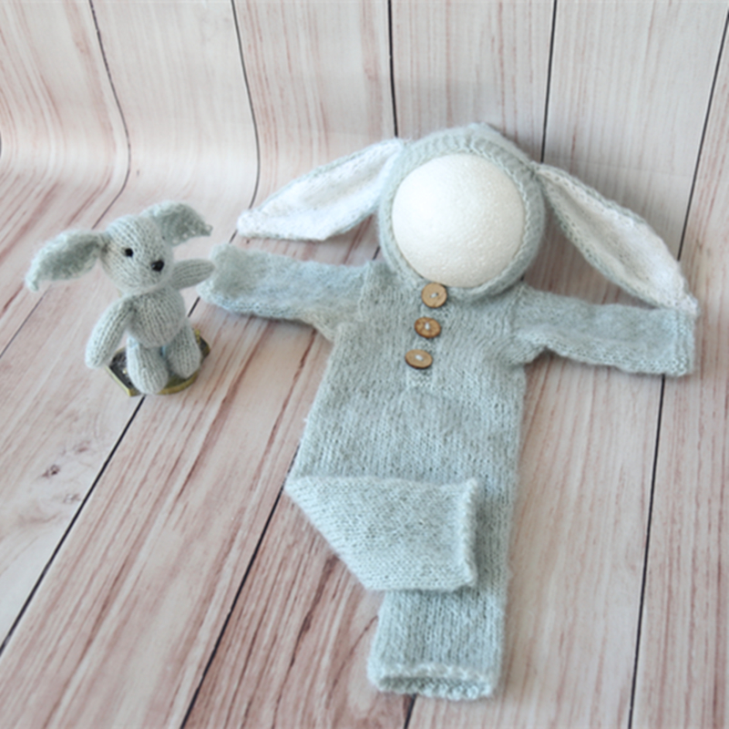 newborn photography prop Long sleeve prop,newborn bunny outfit bunny outfit Newborn Long Sleeve Fluffy Bunny outfits Newborn photo prop