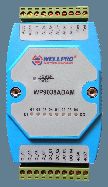 0-20MA/4-20MA Analog Input Module 6AI/4DI/4DO RS485 MODBUS i o 4 20ma electric actuators