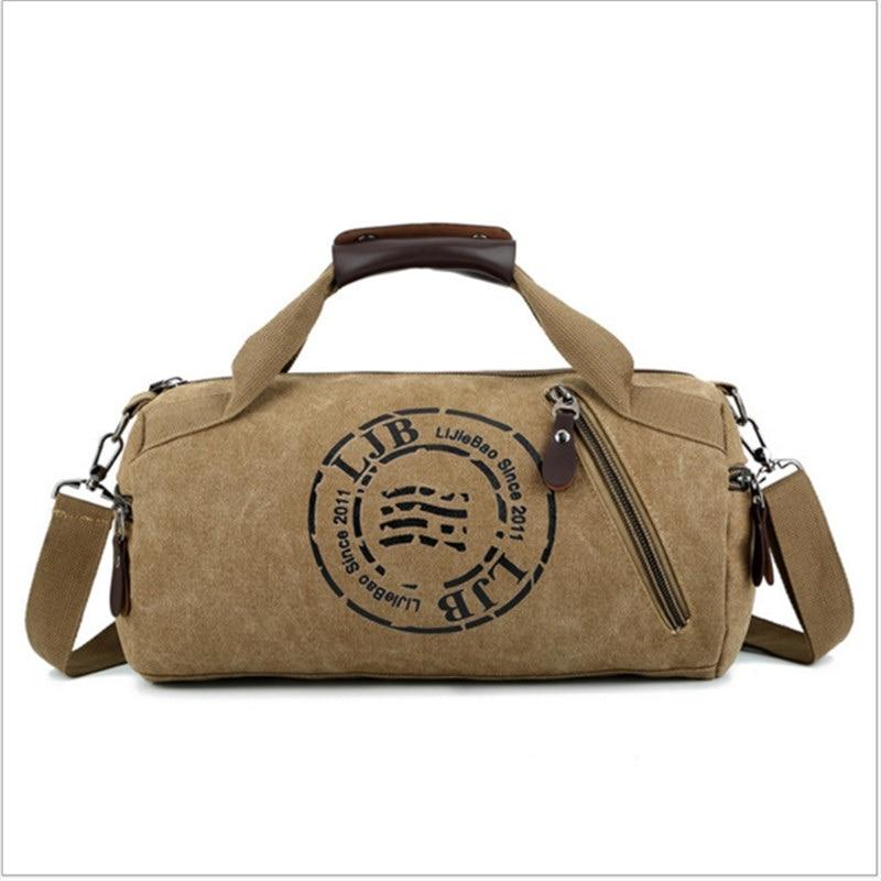 Multifunction Handbag Men Canvas Sport Bag Training Gym Bag Women Fitness Bags Outdoor Sports Bag Male Female  Pouch Rucksack