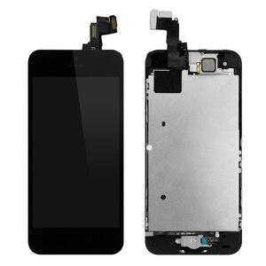 Image 2 - Ensemble complet assemblage complet écran LCD pour iPhone 5 5C 5S LCD écran tactile numériseur bouton daccueil caméra avant + haut parleur avec outils
