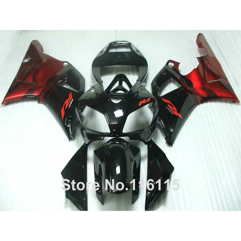 Injection molding plastic fairings set for YAMAHA 1998 1999 YZF-R1 red black body kits YZF R1 98 99 fairing kit YS6