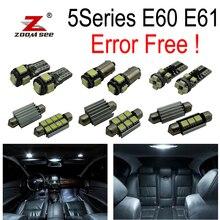20 штук Светодиодный подсветка номерного знака+ гирлянда для внутреннего купола лампочки комплект для bmw E60 E61 M5 525xi 525i xDrive 530i 530xi 540i 545i 550i(03-10