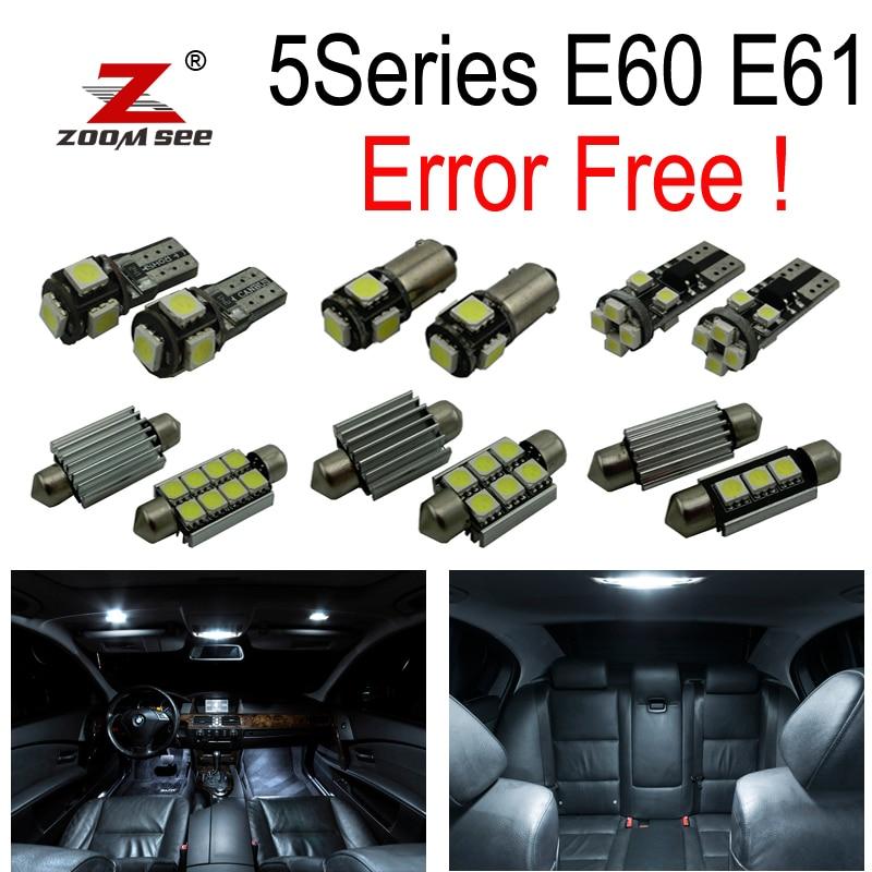20 x Error Free  LED Interior dome Light  Kit  for bmw E60 E61 M5 525i 535i 545i 550i (2004-2010) carprie super drop ship new 2 x canbus error free white t10 5 smd 5050 w5w 194 16 interior led bulbs mar713