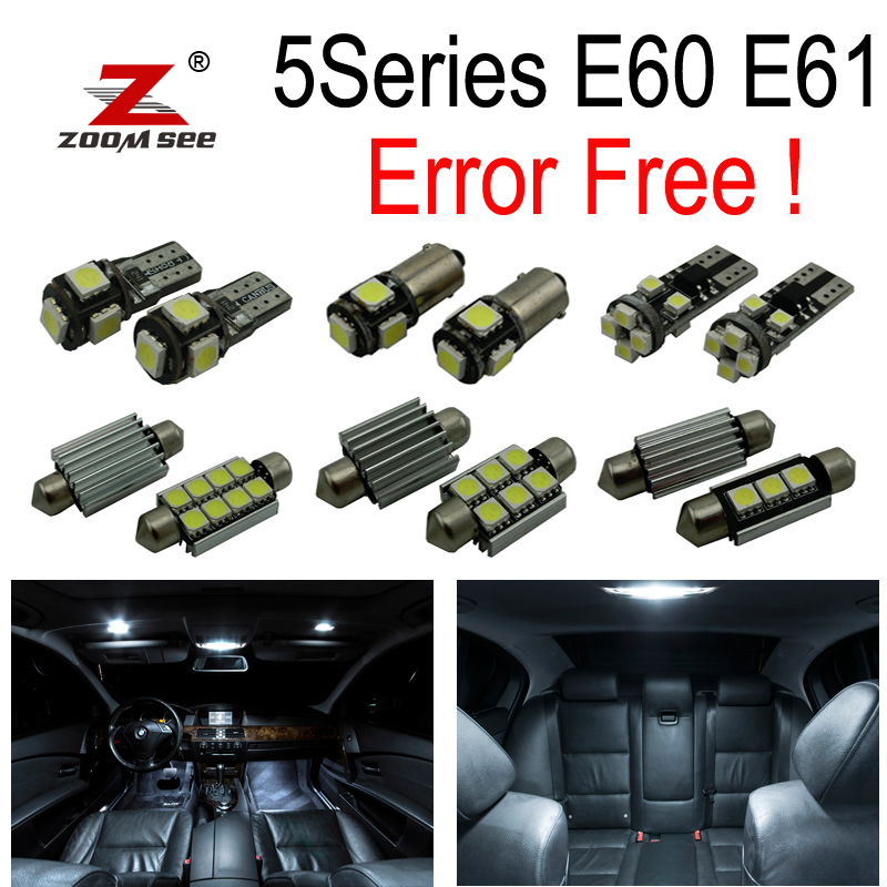 20pcs LED License Plate lights + Interior dome bulb Kit for bmw E60 E61 M5 525xi 525i xDrive 530i 530xi 540i 545i 550i (03-10)