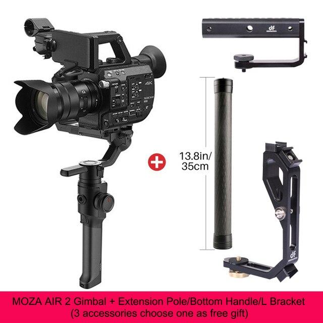 DIGITALFOTO Moza Aria 2 Maxload 4.2 KG DSLR Camera Stabilizzatore 3 Assi Handheld Gimbal per Canon Nikon PK DJI Ronin S Zhiyun Gru 2