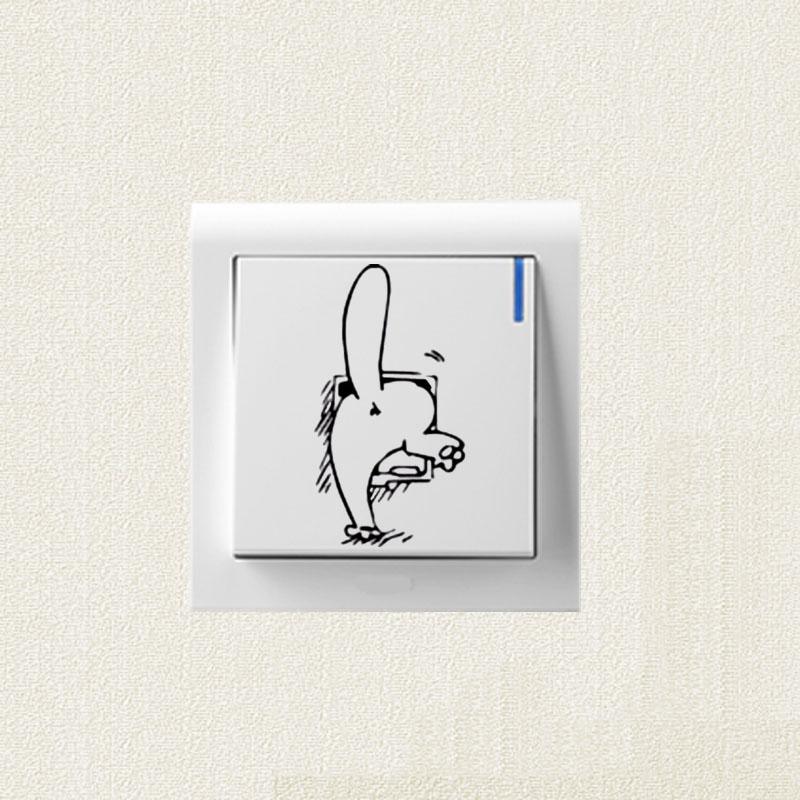 simonus gato pegatinas interruptor de dibujos animados clsico cuerpo decoracin tatuajes de pared ss