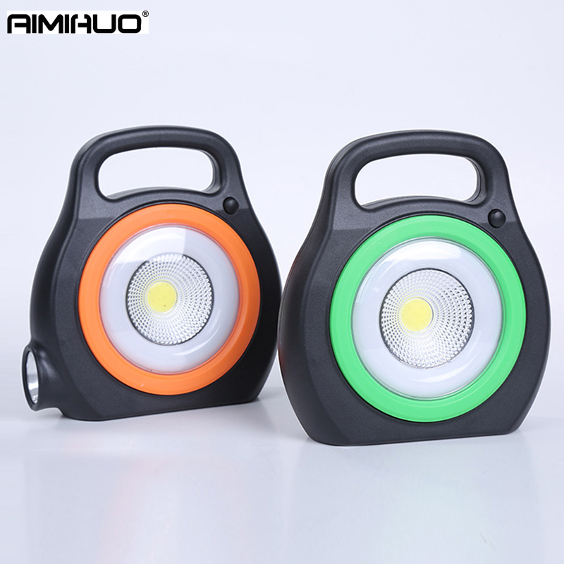 AIMIHUO Portable Lantern COB Work Light USB Charge Flashlight LED With Battery Camping Lamp Solar Light Outdoor Camping Lantern