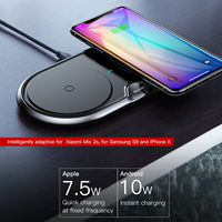 Baseus 10W Dual Seat Qi Wireless Charger For iPhone X 8 Samsung S9 S8 Note 8 Fast Charging Wireless Charging pad Desktop Charger 1
