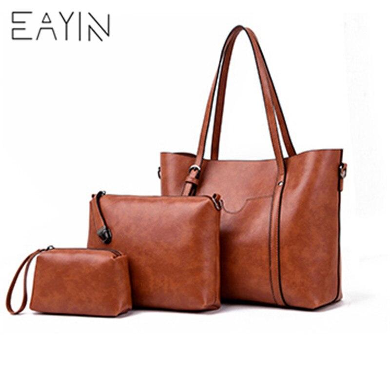 Sacs à main de luxe pour femmes sacs à main pour femmes ensemble sacs à main et sacs à main en cuir rétro ensemble de sacs composites pour femmes