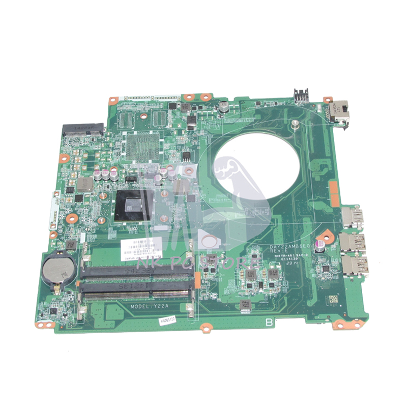 NOKOTION 763422-501 763422-001 For HP Pavilion 17-F Laptop motherboard DAY22AMB6E0 DDR3 with Processor onboard Full tested 763425 501 for hp pavilion 17 f 17z f laptop motherboard day22amb6e0 rev e 260m2gb a6 6310 mainboard 90days warranty 100