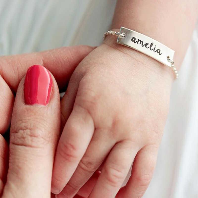 Metoo złoty/srebrny bransoletka dla dzieci nazwa niestandardowa łańcuch ze stali nierdzewnej bransoletki dla kobiet bransoletka femme bransoletka