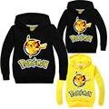 Niños Pikachu Pokemon Hoodies niños muchachas de los muchachos del otoño del resorte delgado suéter de Manga Larga Outwear la ropa de bebé Ropa de Niños