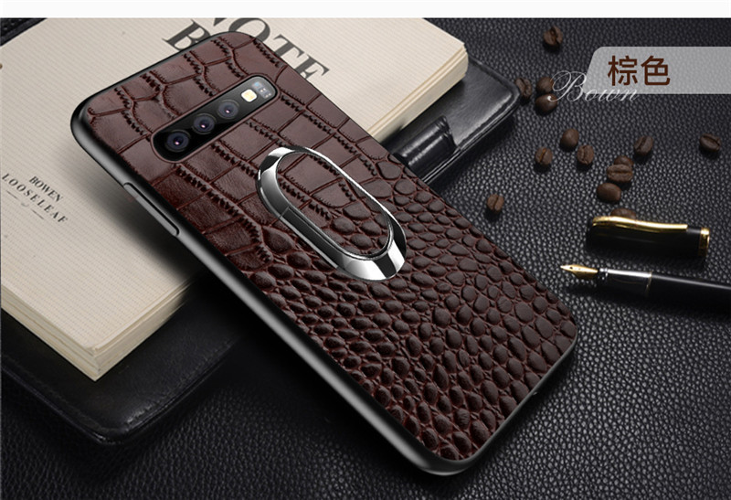 For Samsung Galaxy S10 Case Genuine Leather Armor Car Magnetic Ring Holder Cover For Samsung S10 Lite S10 Plus Case16
