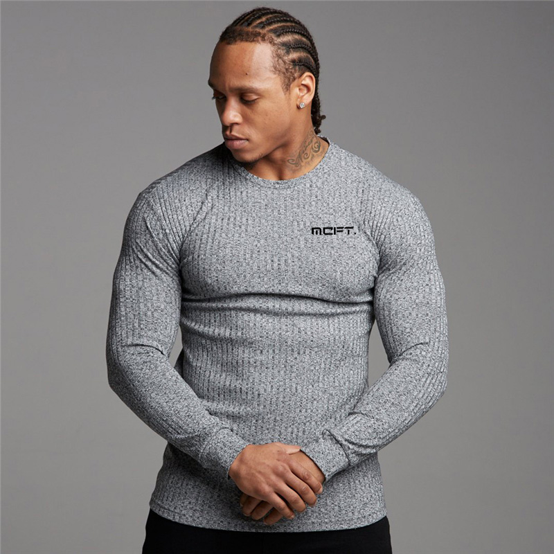 Brand Man Pullovers Autumn New Fashion O neck Sweater Crossfit Knitted Jumpers Men Fitness Clothes Slim Fit Male Tops