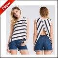 2016 new fashion summer short tank top women sexy crop tops sleeveless tshirts vest hot sale sexy plus size back slit