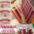 New arrival 12 Pcs Professional 12 Mixed Colors Lipliner Waterproof Lip Liner Pencils 15cm