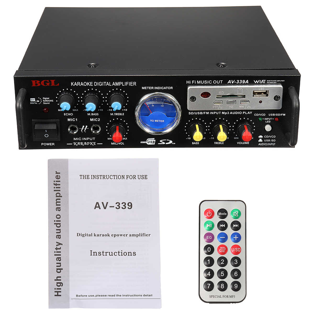 80w 12v 220v 50hz 5 1 channel equalizer stereo power amplifier support sd card tf [ 1200 x 1200 Pixel ]