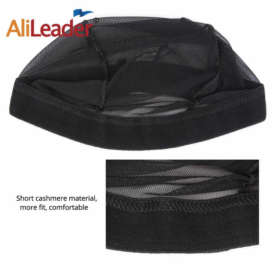 Alileader черный купол основа для афрокосичек легче шиньон для волос растягивающийся ткацкий колпачок эластичный нейлон дышащая сетка для волос