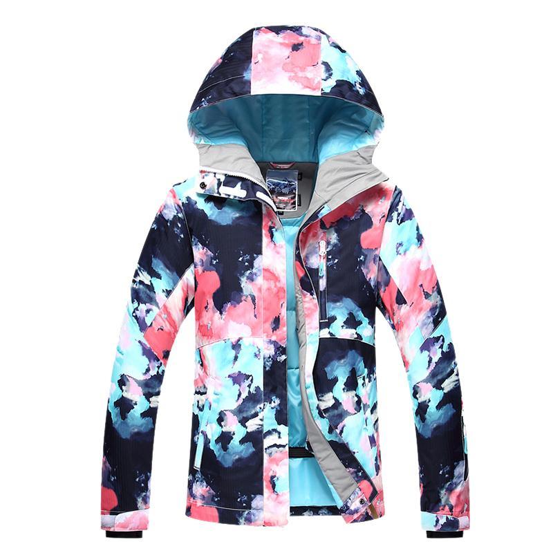 Gsou neige femmes vestes de neige 10K imperméable coupe-vent hiver sports de plein air costume filles snowboard costume porter femme