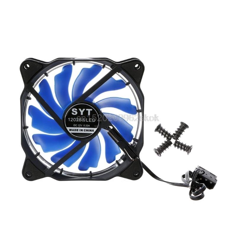 Computer Eclipse Case 120mm LED 4 Light CPU Cooling Fan 12025 #H029#