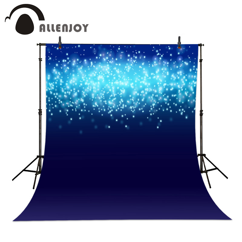 Photographic background Blue Lights Bokeh Sparkle Band Blur Photo Backdrop Bright Shiny vinyl fabric wedding 8x12ft customize