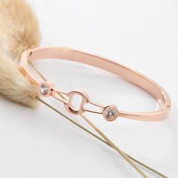 Itireydn нержавеющая сталь браслет, женская бижутерия Роза золотые браслеты для ношения поверх рукава женский с кристаллами