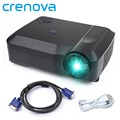 Crenova 3500 Lumens Projector Home Theater Multimedia 120Inch Big Screen LCD Projector With 2*USB 3*HDMI for TV Computer