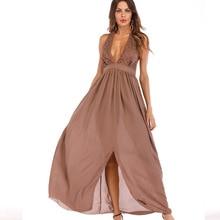 New Women Dress Womens Clothing Fashion Sleeveless Elegant V-neck Ladies Female Backless Dresses