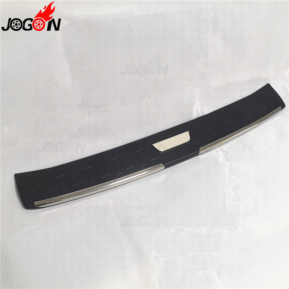 ABS Car Inner Rear Bumper Protector Tailgate Trunk Guard Sill Plate Scuff Trim Cover For Toyota