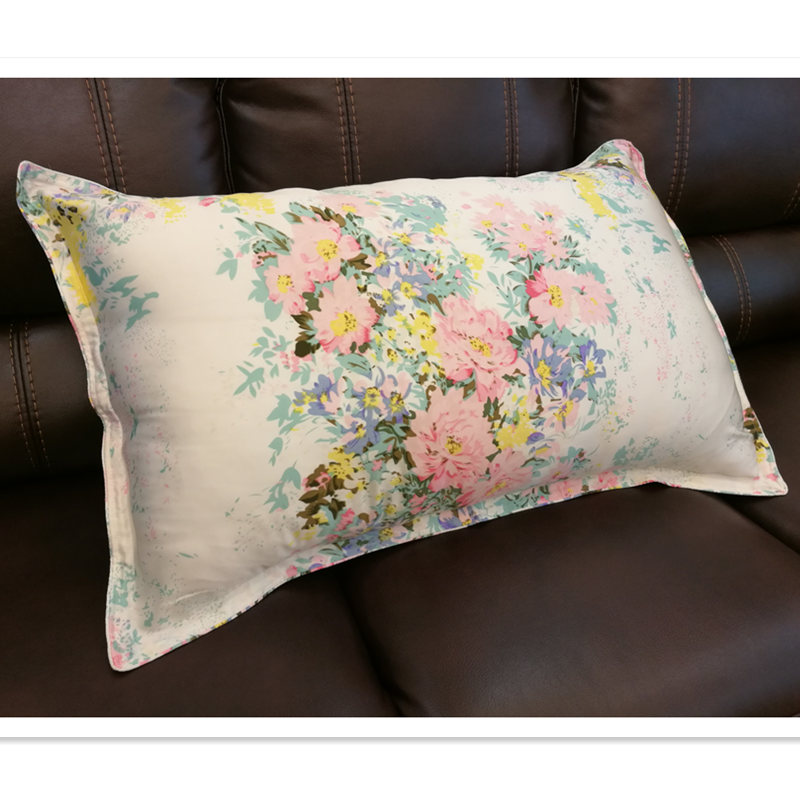 ୧ʕ ʔ୨Free Shipping40% Silk Pillowcase40 Sides Silkpillow Case Gorgeous Envelope Back Pillow Cover