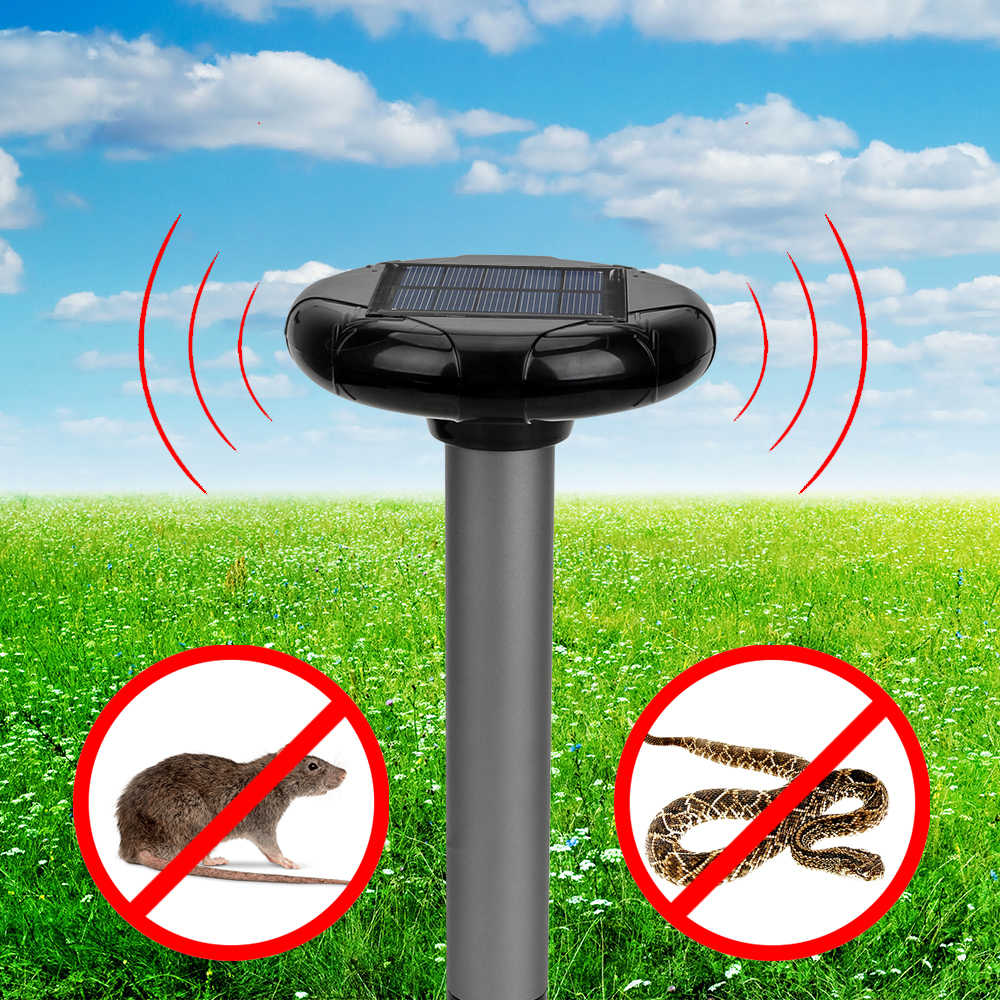 Mouse Rat Repeller Ultrasonic Solar Insect Repellent Vole Mouse Snake Killer Trap 1pcs  Snake Mouse Rodent Pest Contorl|Repellents| |  - title=